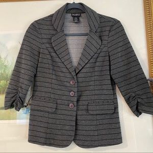 SOHO Apparel Striped Sweater Blazer Jacket Cardi